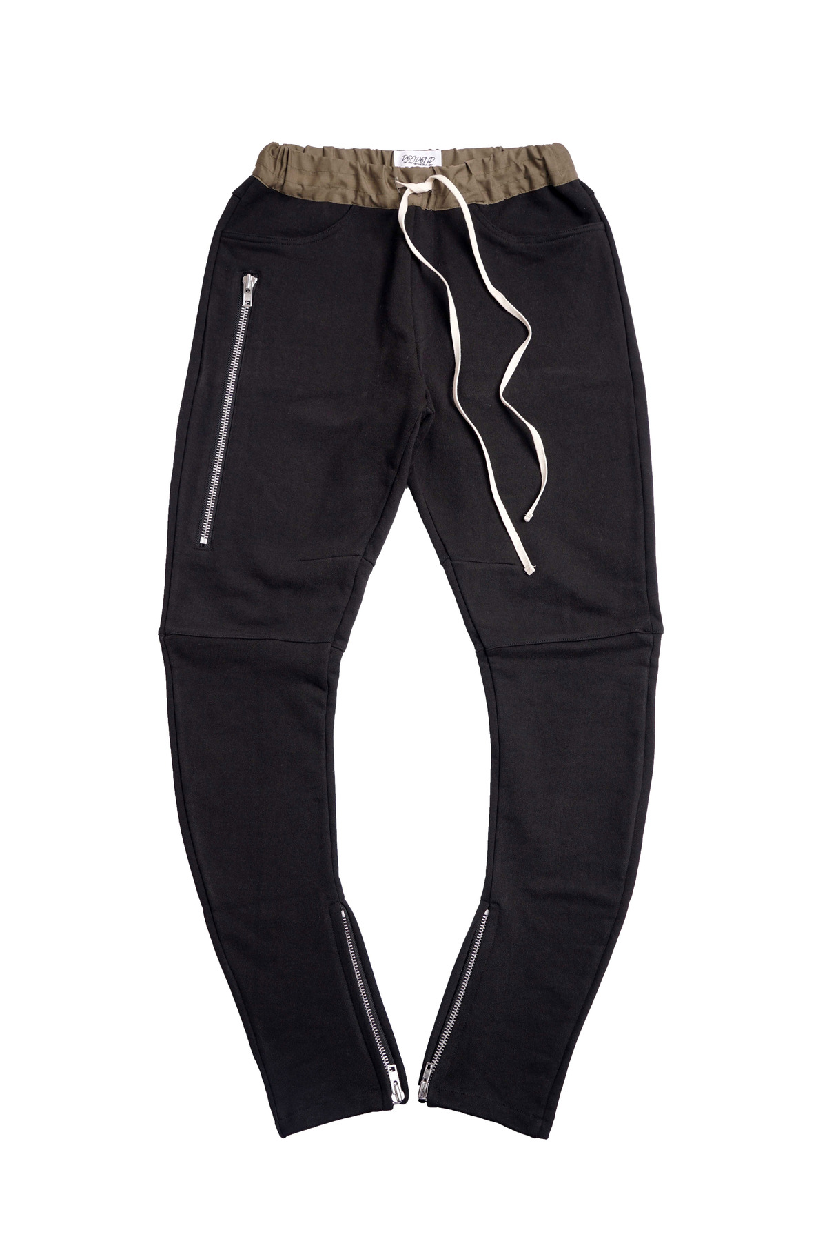 BLACK J- DRAWSTRING PANTS