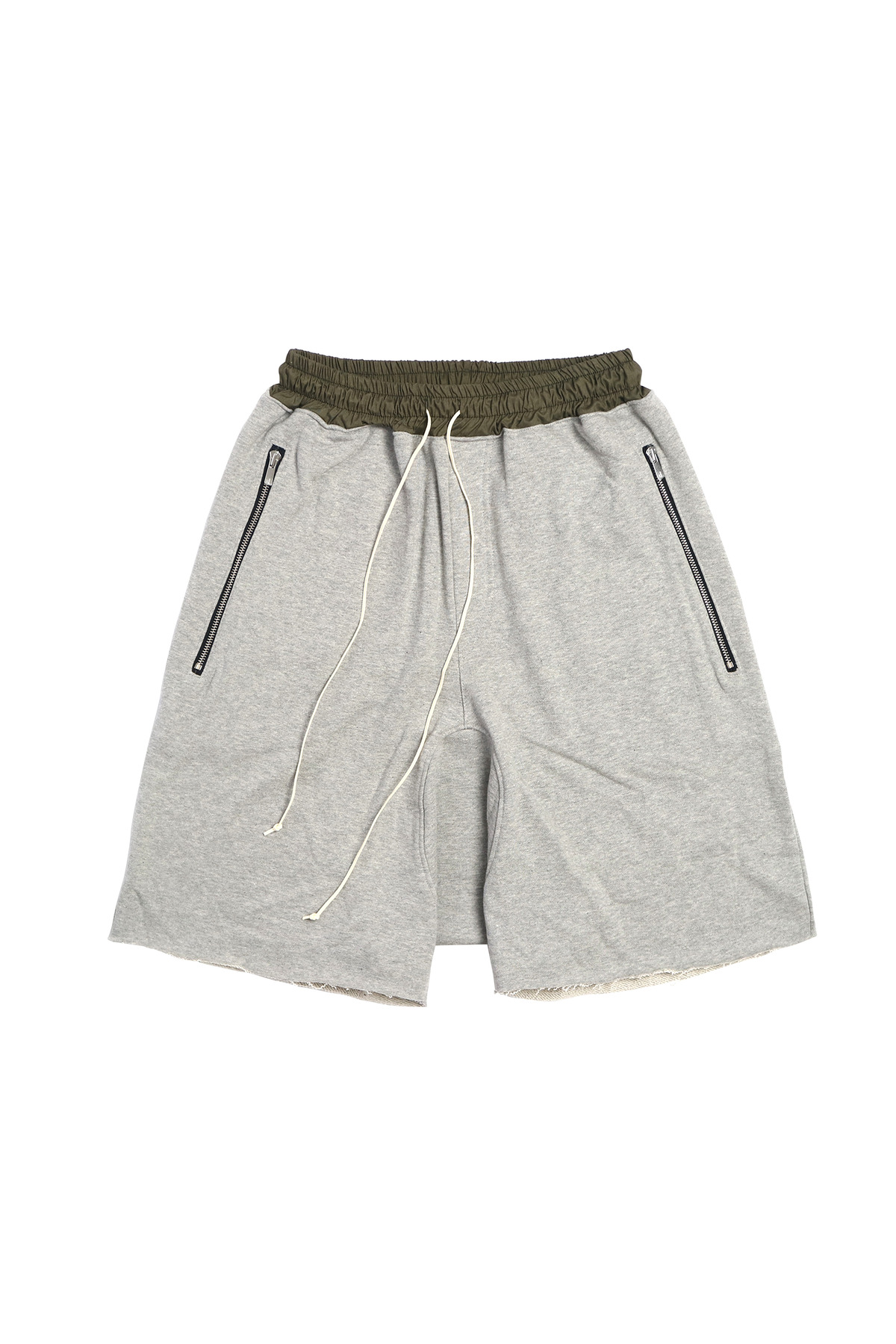 GREY DRAWSTRING SHORT PANTS