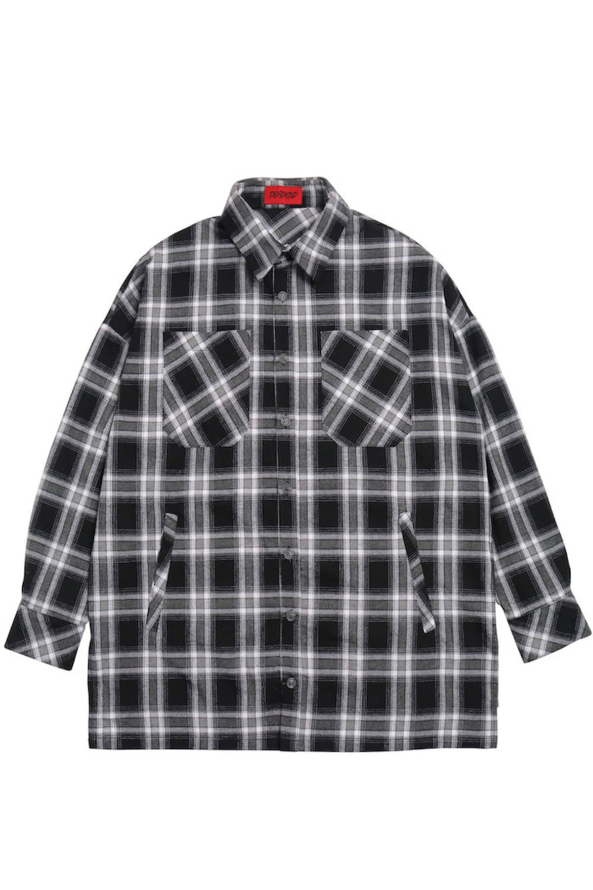 BLACK FLANNEL POCKET SHIRTS V2