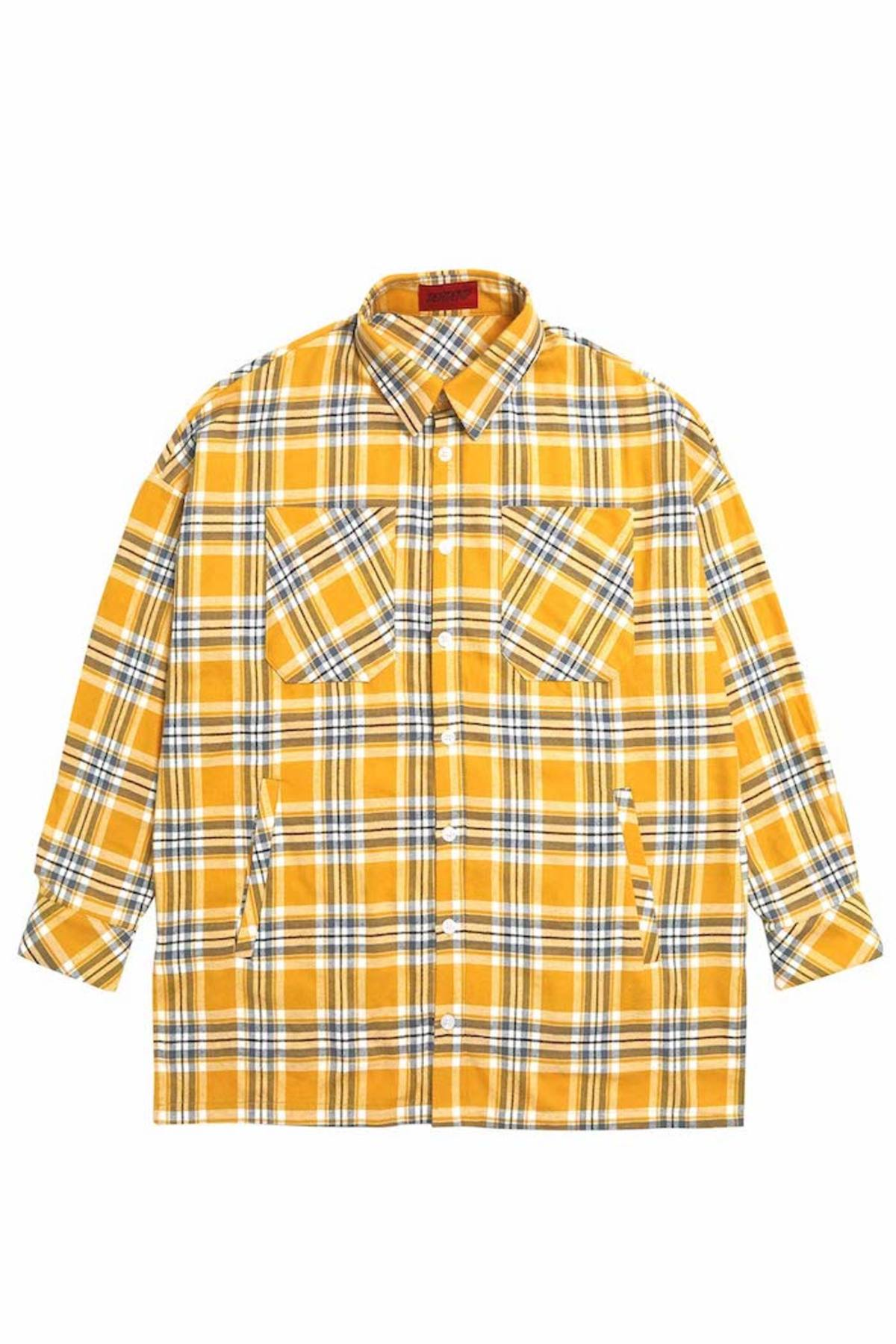 YELLOW FLANNEL POCKET SHIRTS V2