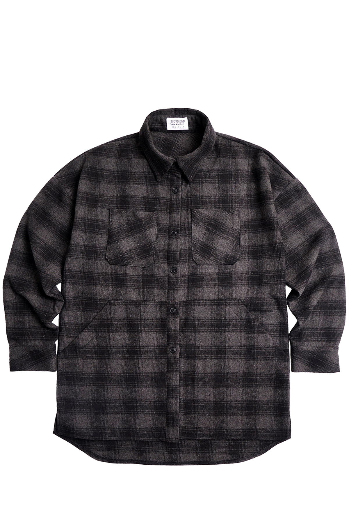 BLACK FLANNEL POCKET SHIRTS