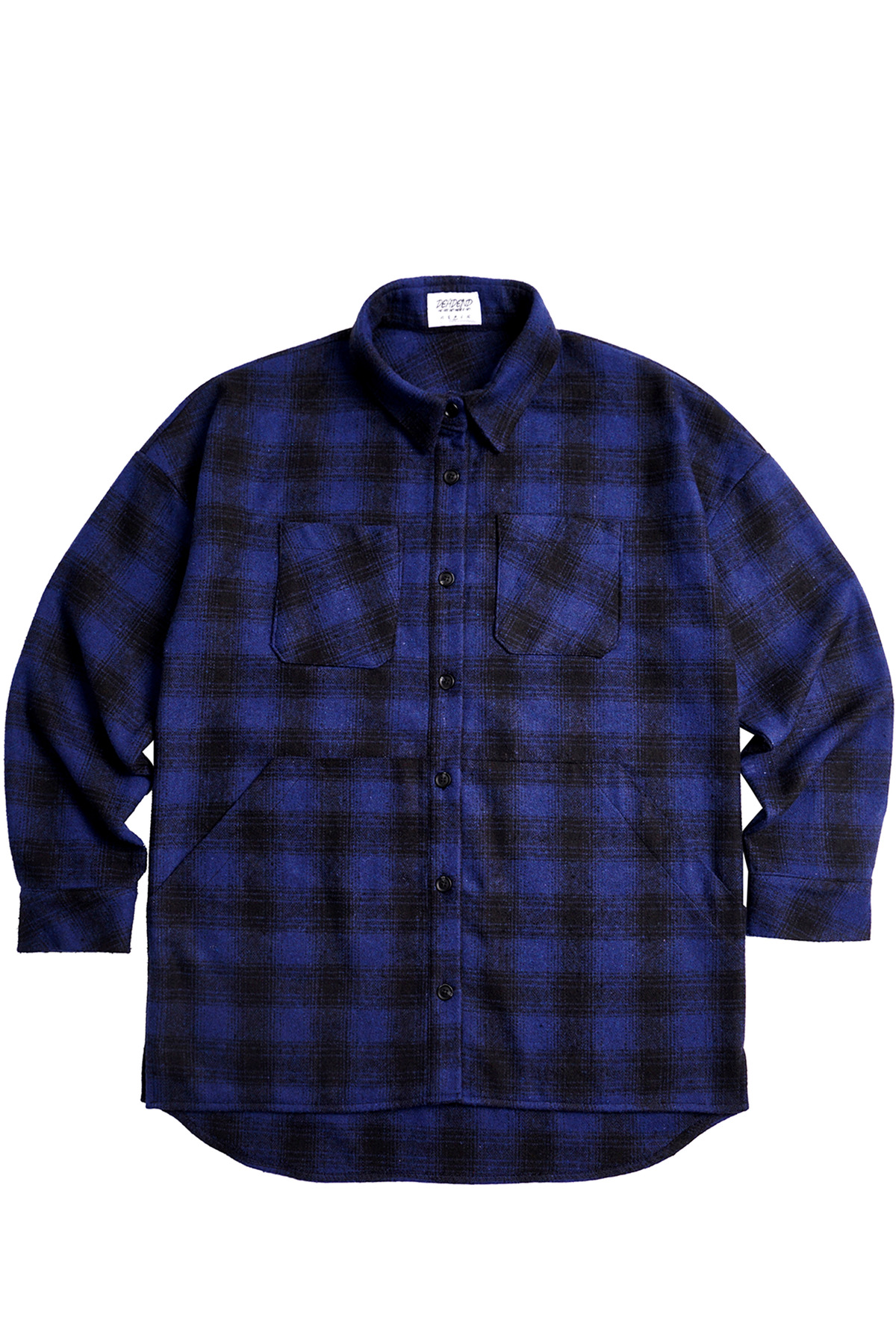 BLUE FLANNEL POCKET SHIRTS