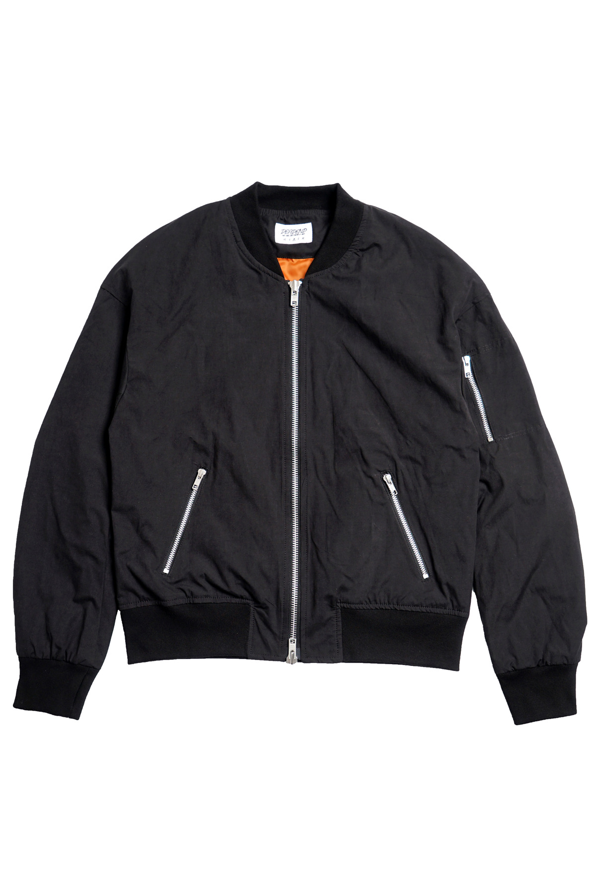 BLACK SET IN RAGLAN FLIGHT JACKET