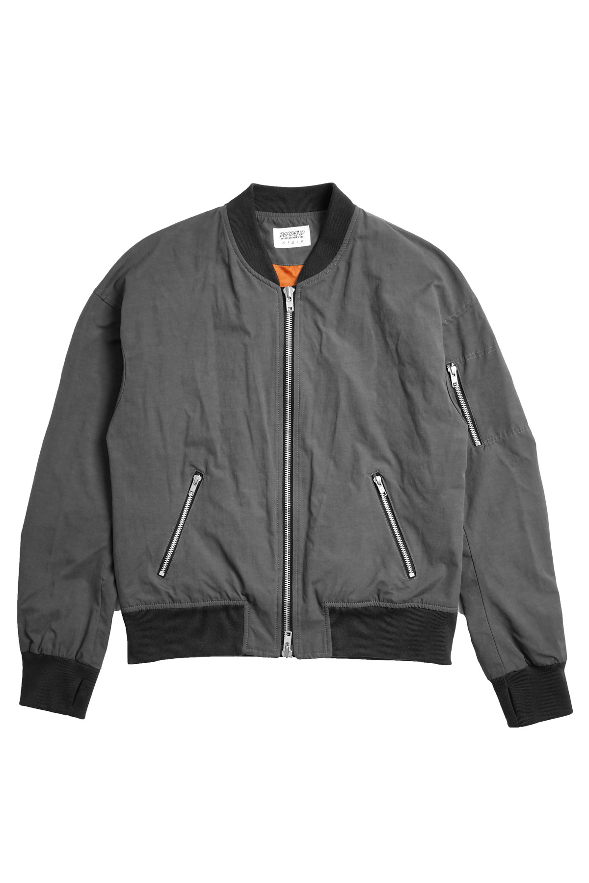 GREY SET IN RAGLAN FLIGHT JACKET