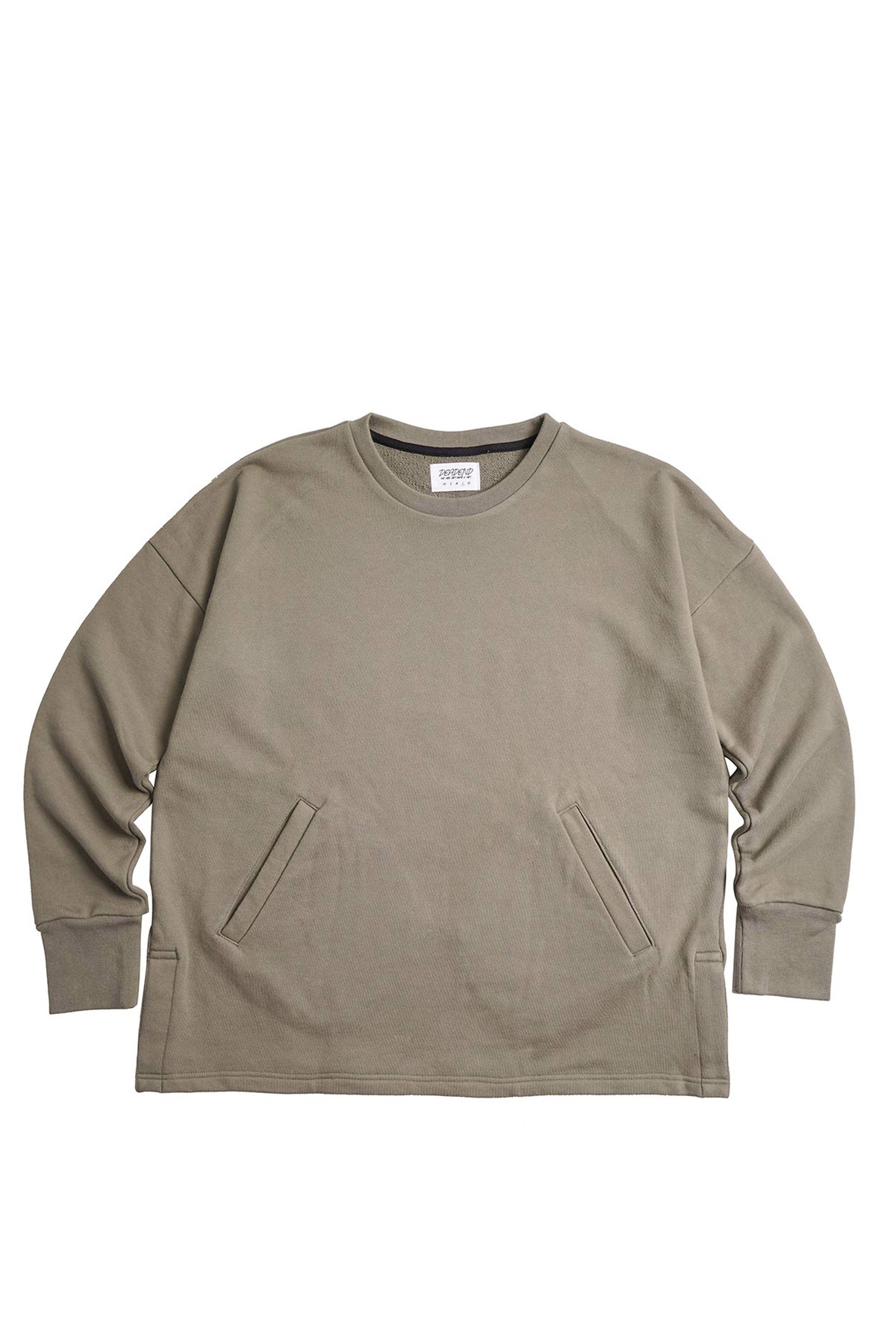KHAKI SET IN RAGLAN SWEAT SHIRTS