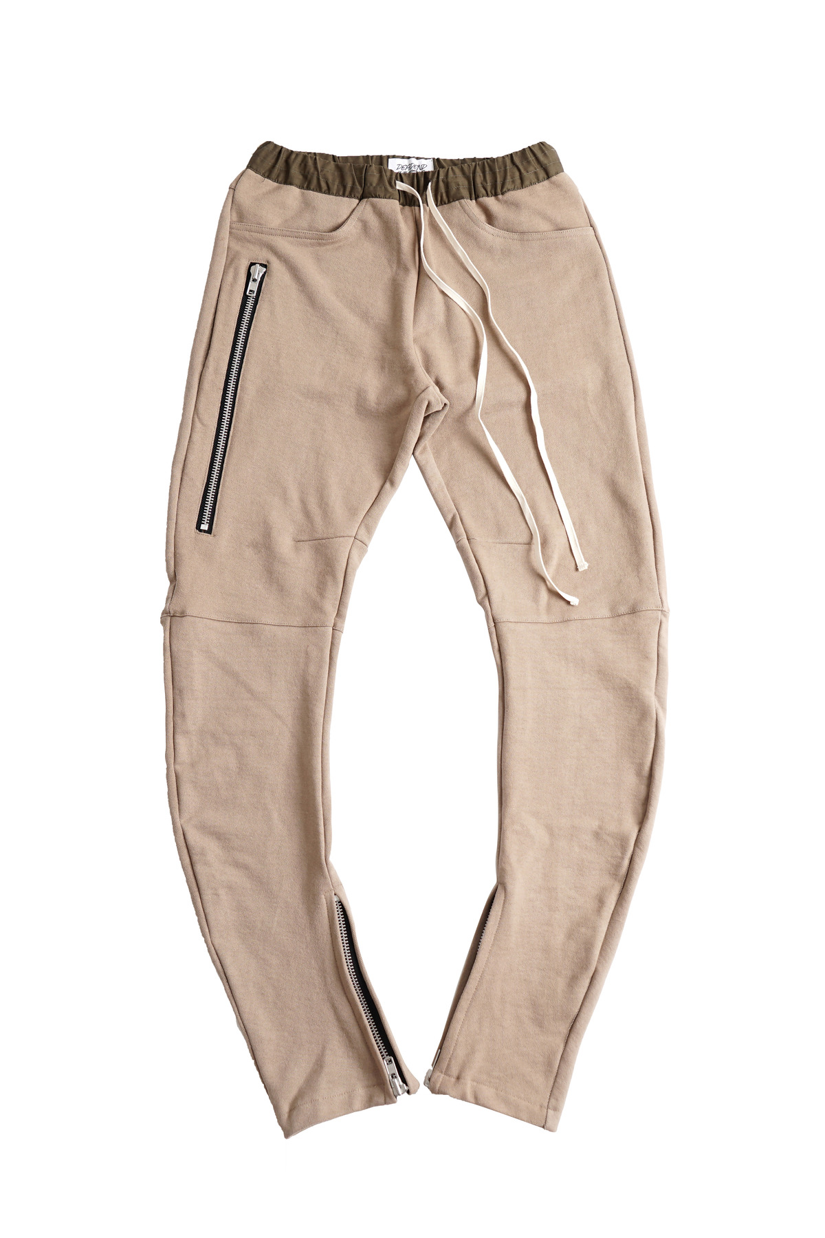 BEIGE J- DRAWSTRING PANTS