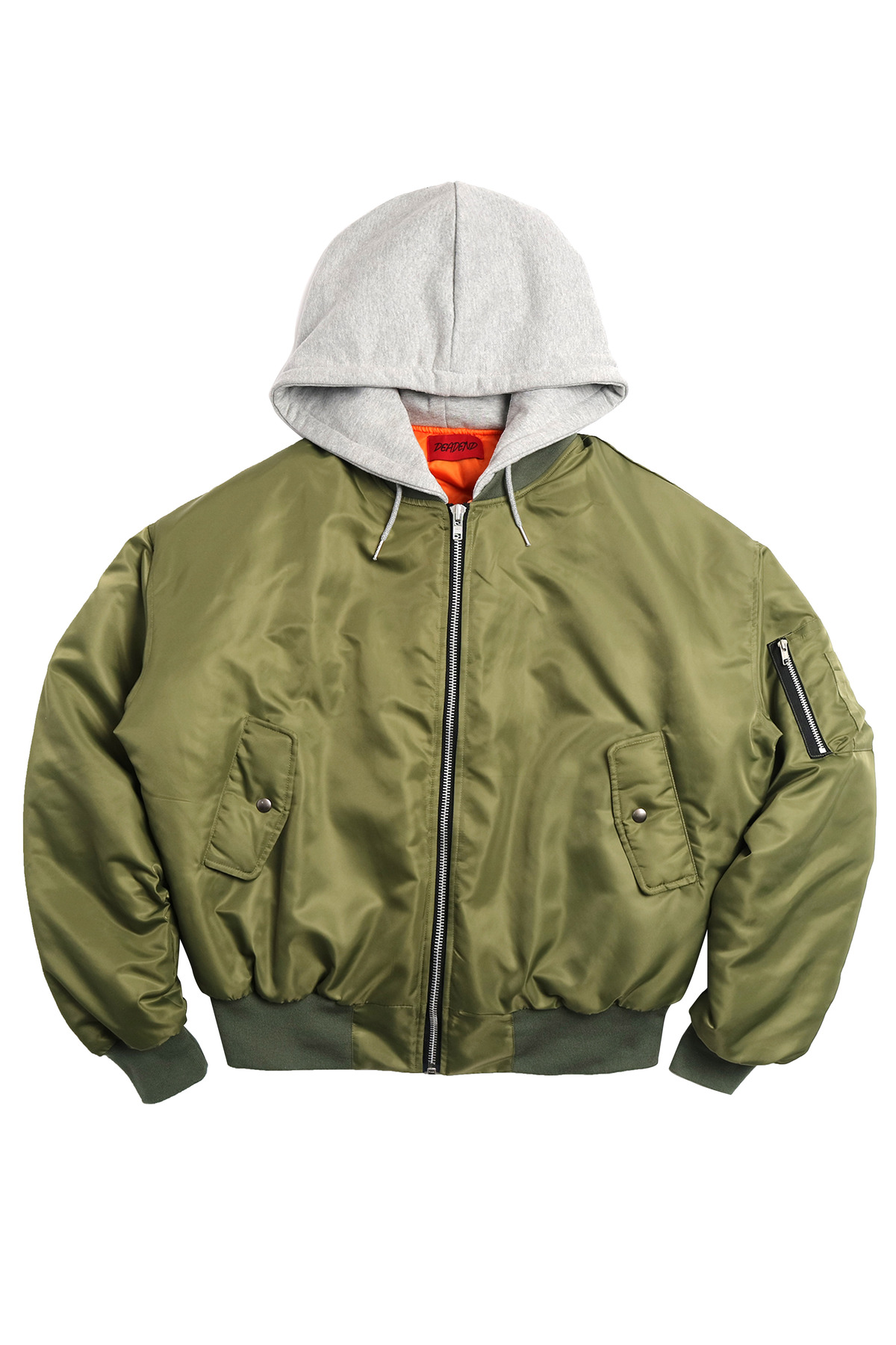 KHAKI REVERSED BOMBER JACKET