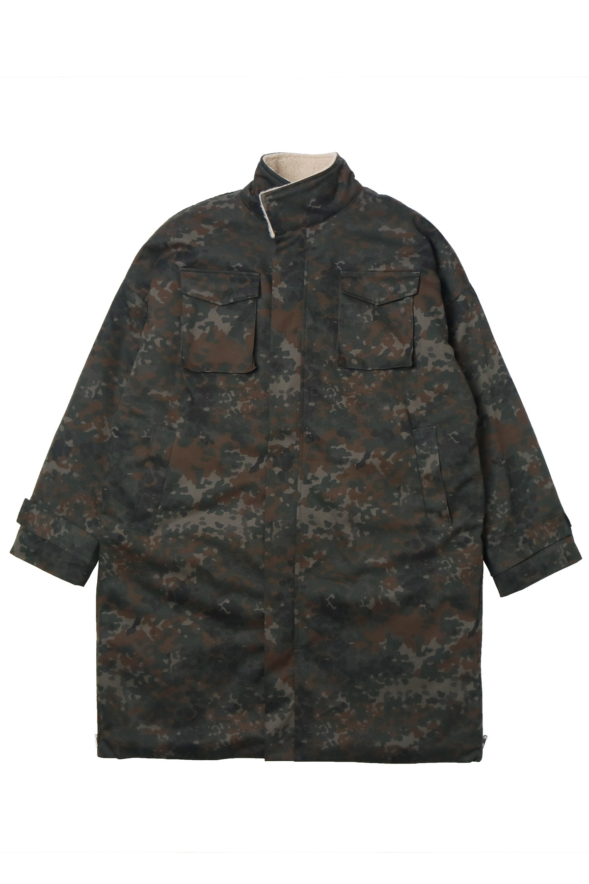 CAMO SHERPA SIDE ZIP PARKA