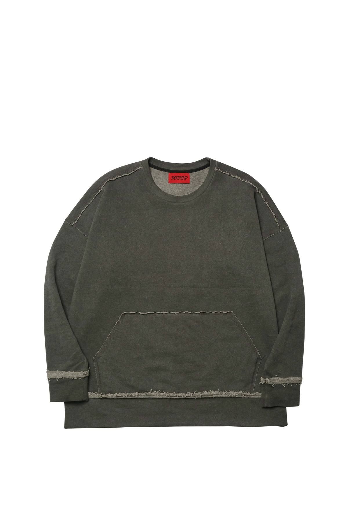 CHARCOAL RAW EDGE SWEAT SHIRTS