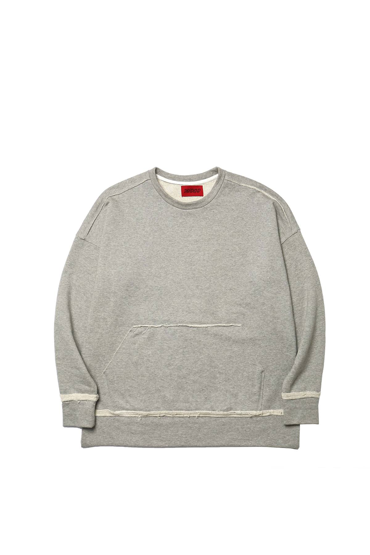 GREY RAW EDGE SWEAT SHIRTS