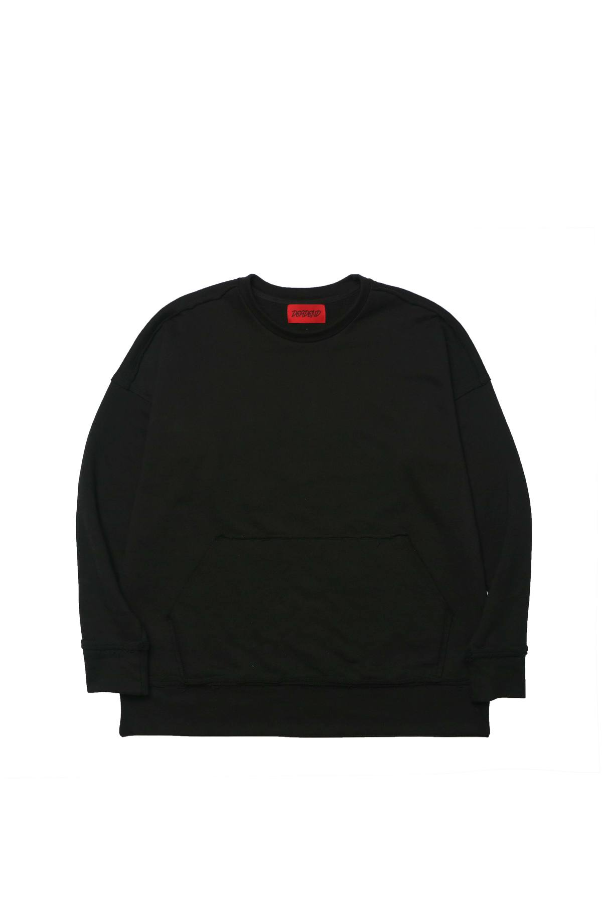 BLACK RAW EDGE SWEAT SHIRTS