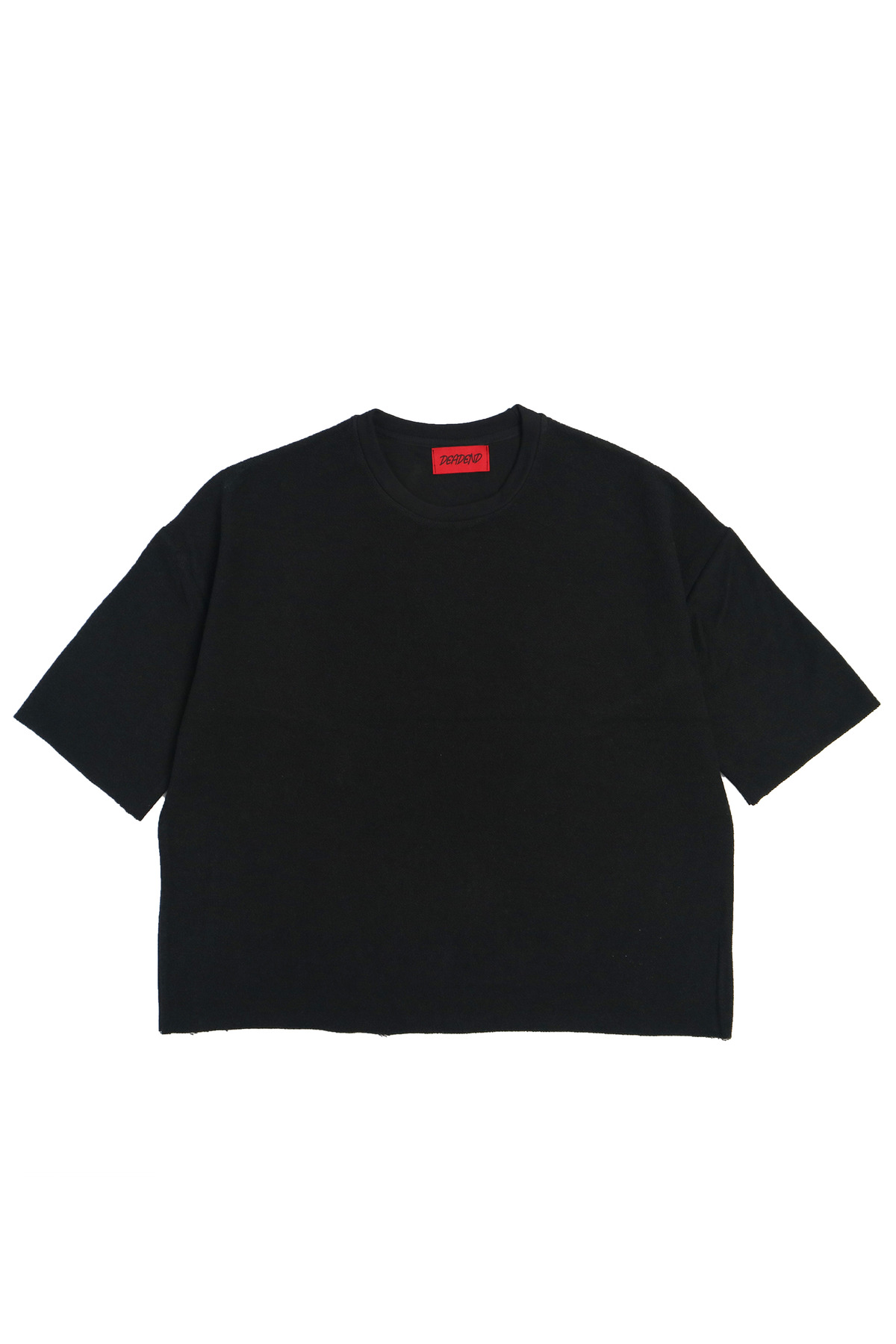BLACK 3/4 REVERSED SWEAT SHIRTS