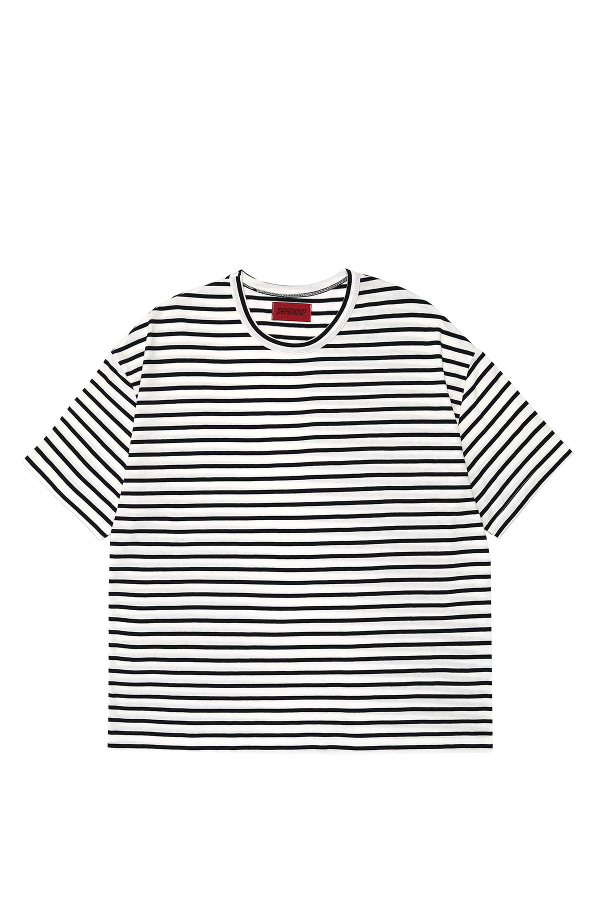WHITE STRIPE SHORT SLEEVE