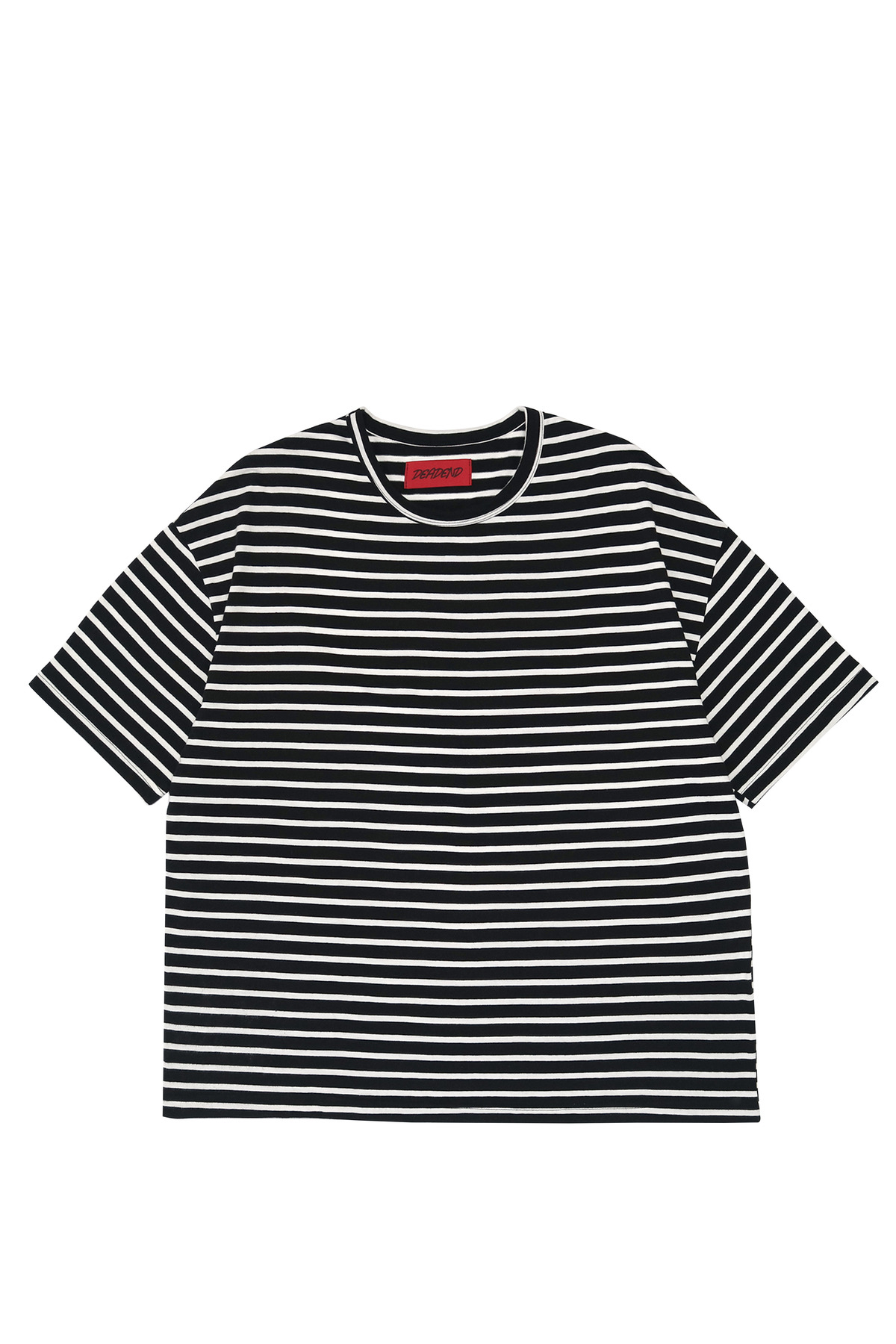 BLACK STRIPE SHORT SLEEVE