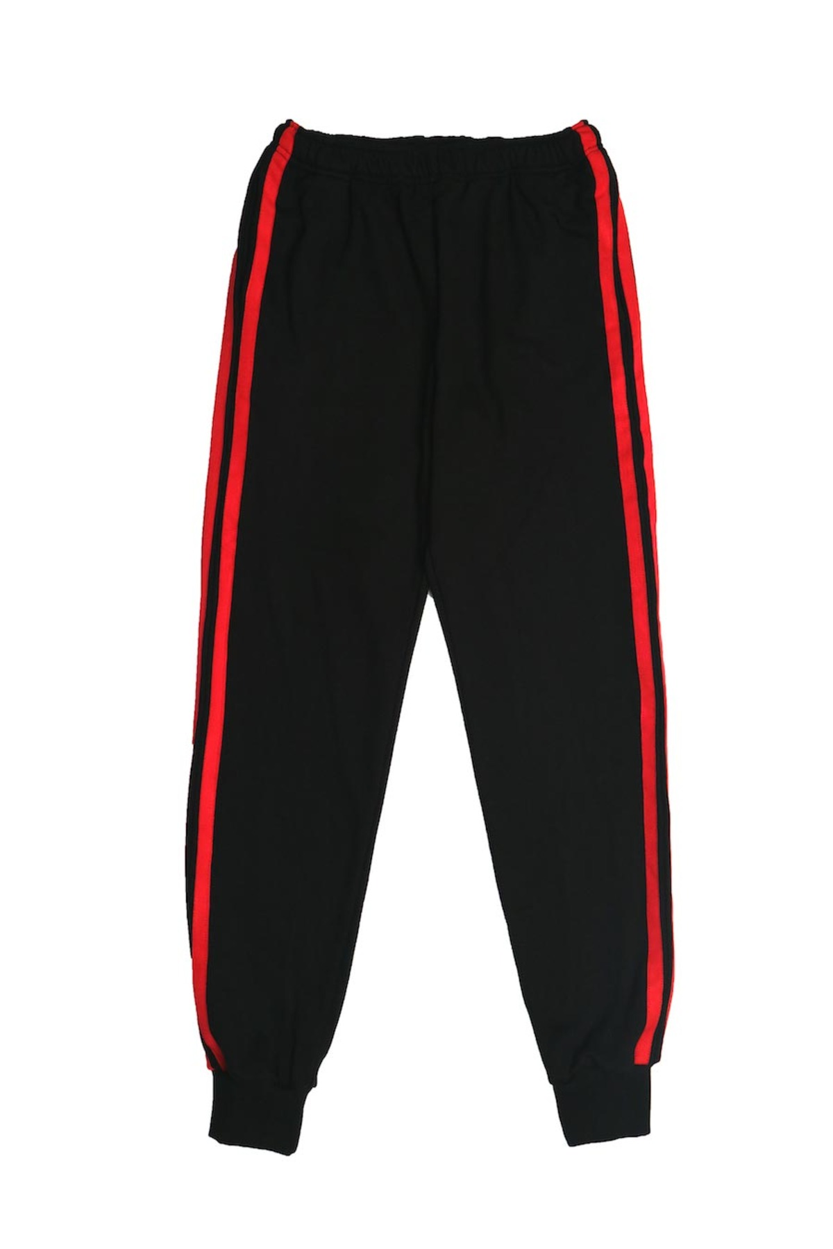 BLACK RED JOG PANTS