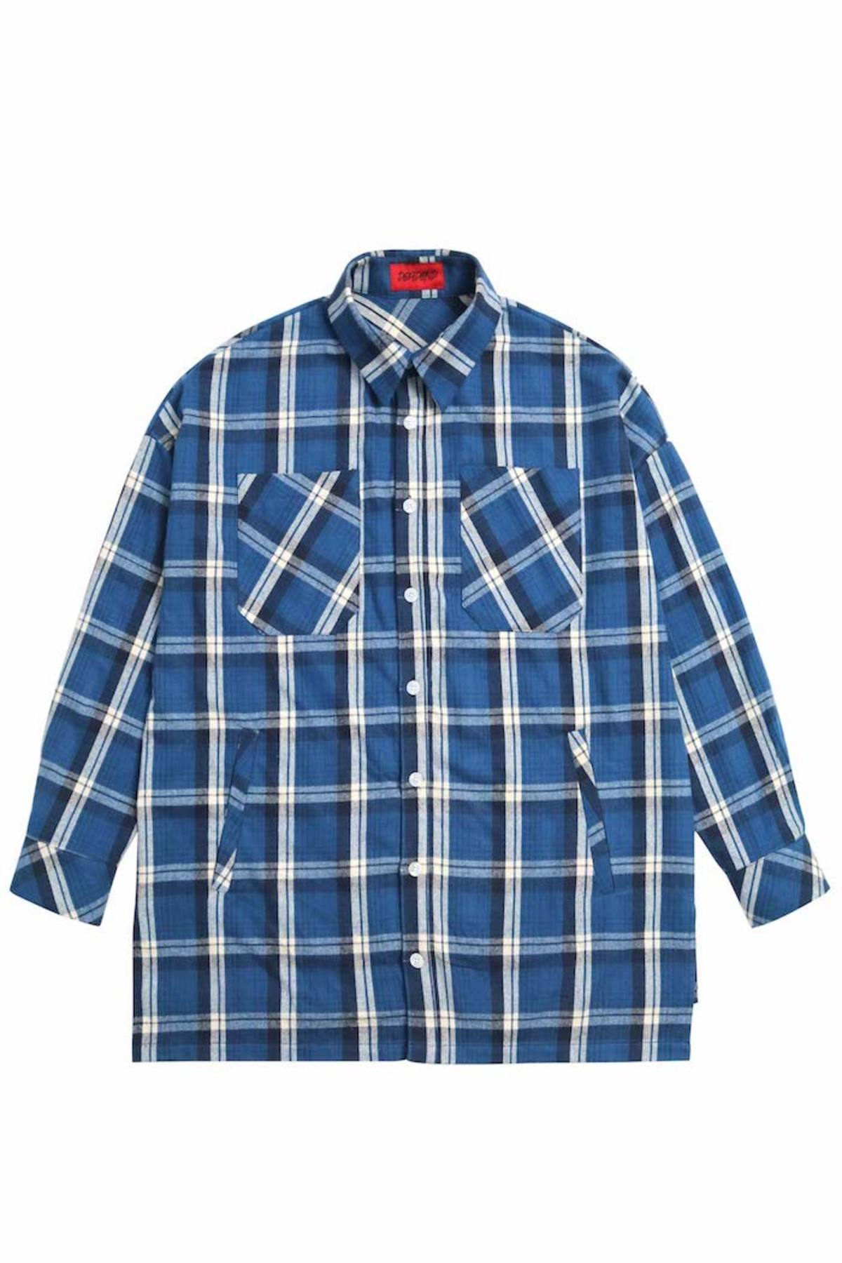 BLUE FLANNEL POCKET SHIRTS V2