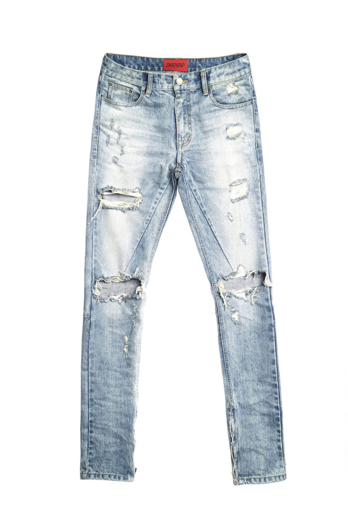 EXPLODE ZIPPER DENIM JEANS