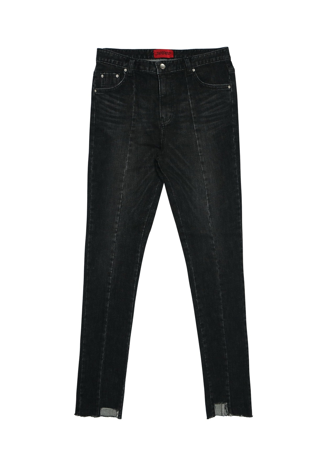 BLACK IMBALANCE CROPPED JEANS