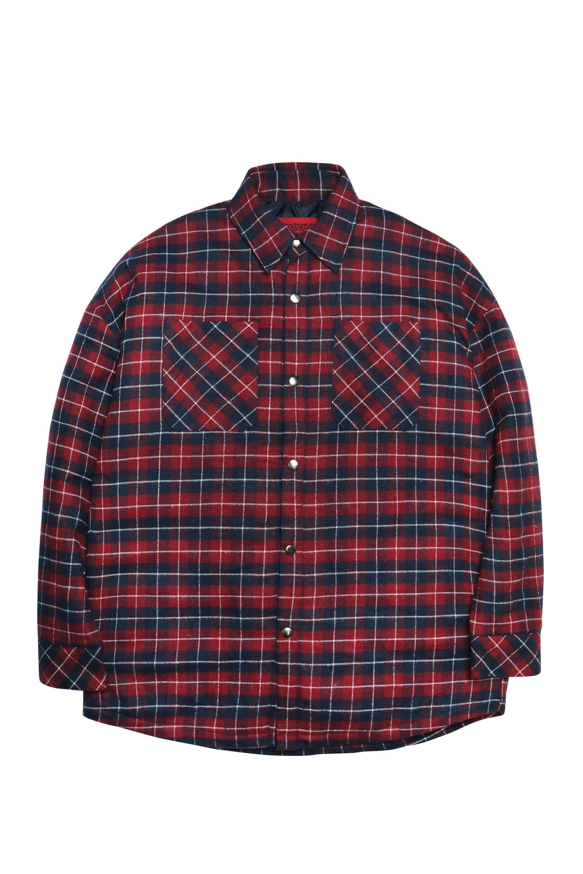 RED OVERSIZE PADDING SHIRTS