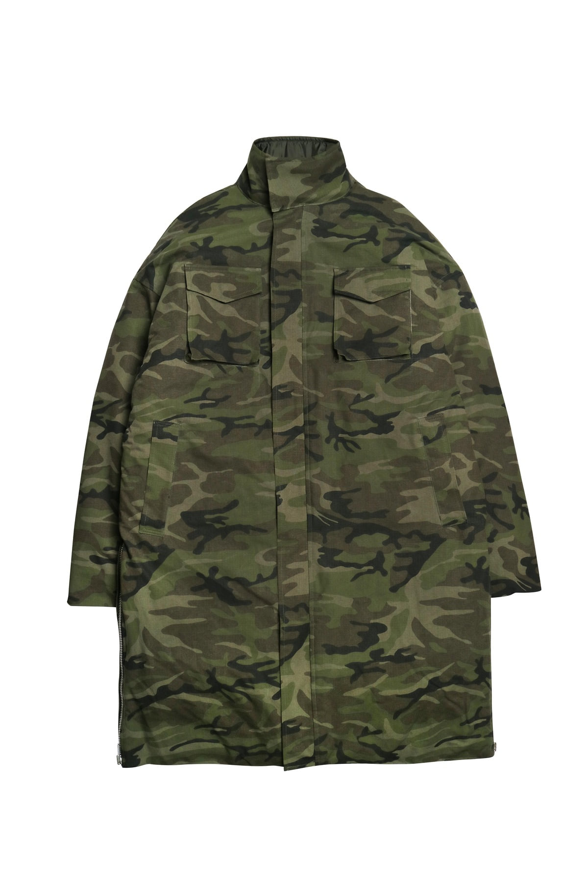 CAMO SIDE ZIP LONG PADDING