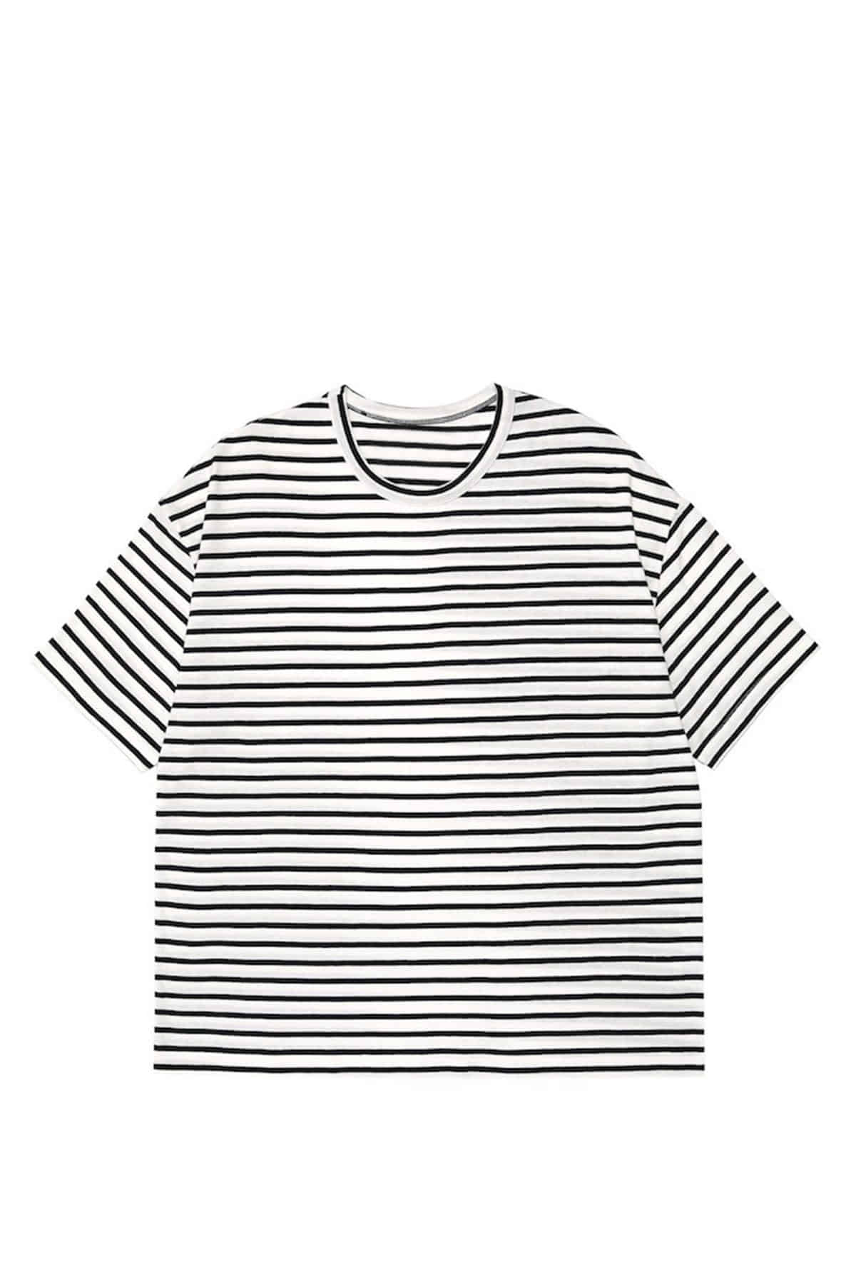 WHITE STRIPE T-SHIRTS