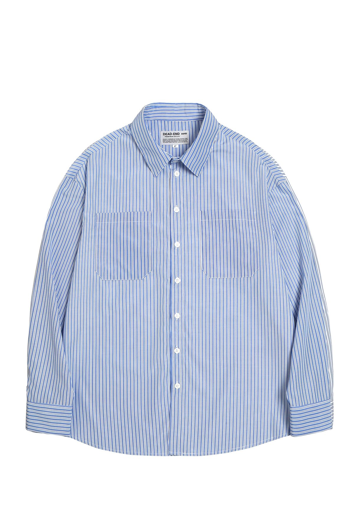 BLUE STRIPE QUOTE SHIRTS