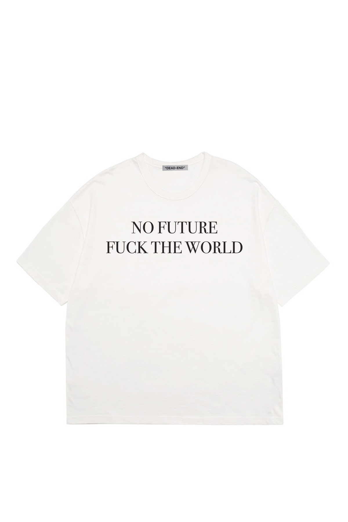 WHITE NO FUTURE T-SHIRTS