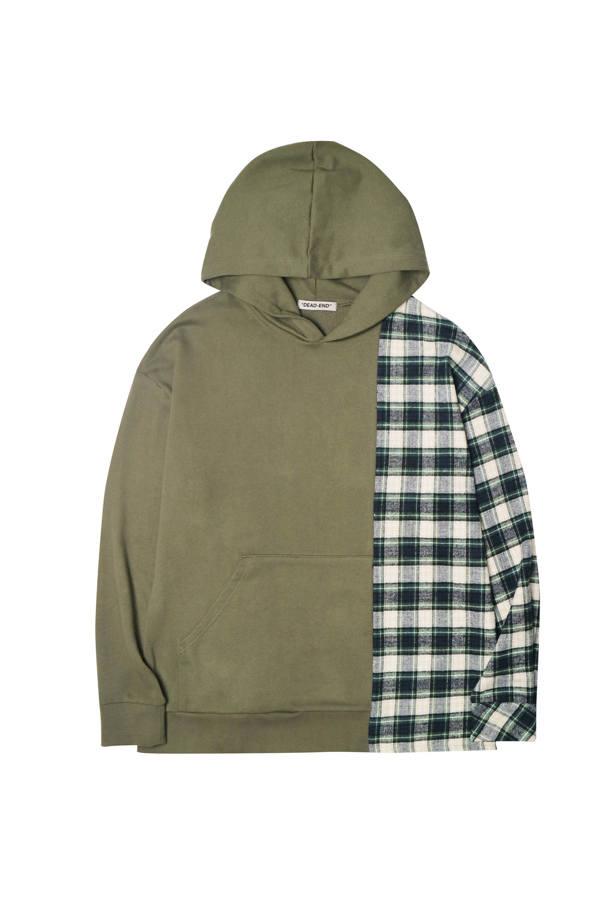 KHAKI DIVIDED PULLOVER HOODIE
