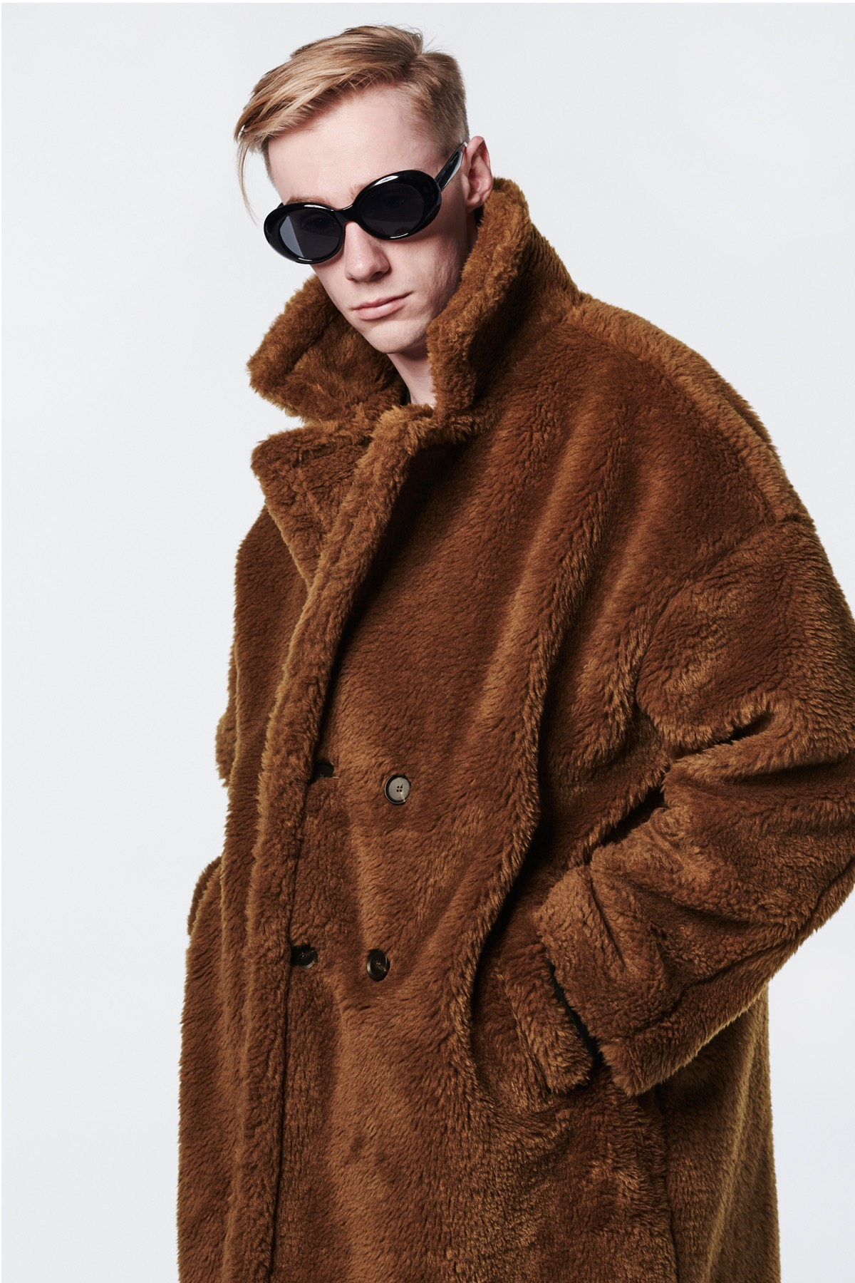 BROWN FUR LONG COAT