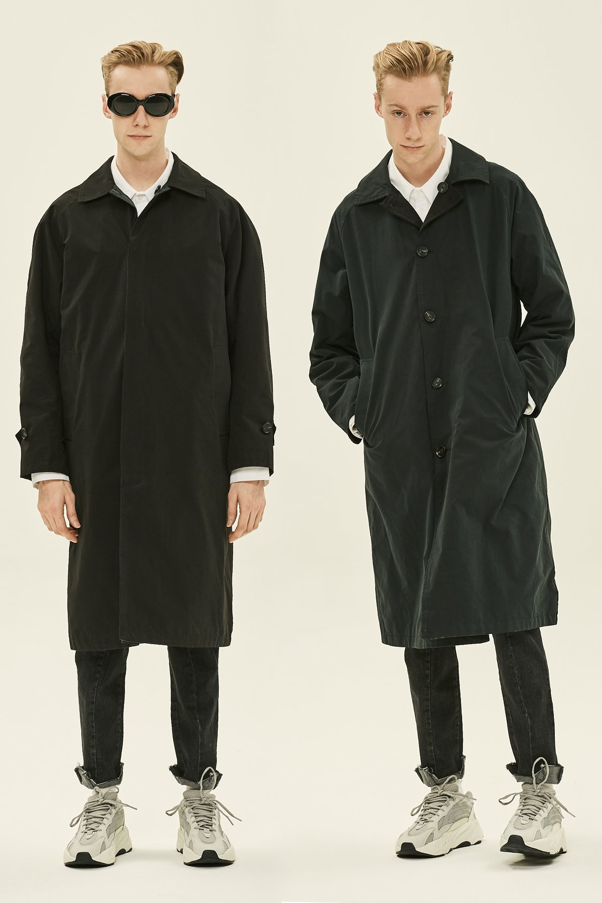 BLACK REVERSIBLE MAC COAT