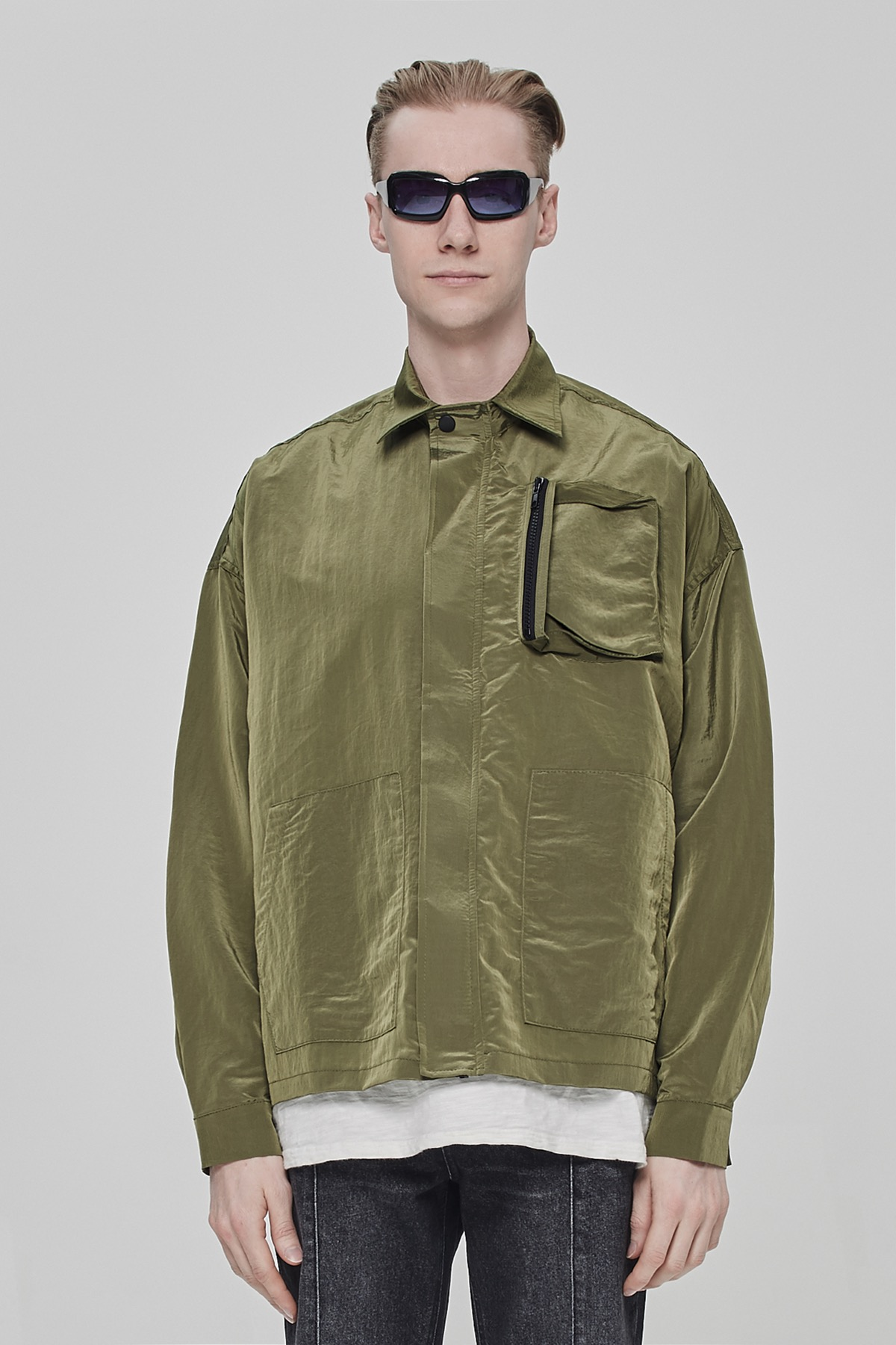 GREEN METAL POCKET JACKET V2