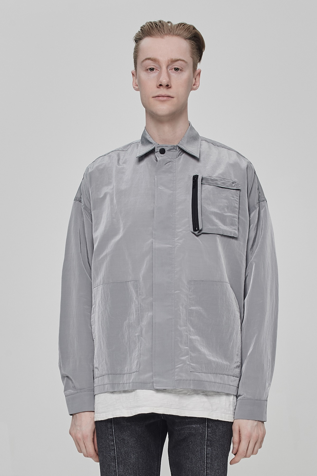 SILVER METAL POCKET JACKET V2